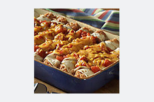 Cheesy Bean Enchiladas Image 1