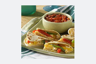 Cheesy Pepper Quesadillas Image 1