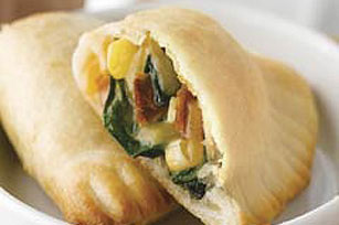 Cheesy Spinach and Bacon Empanadas