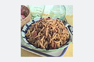 Macarrones con queso, carne y salsa Image 1