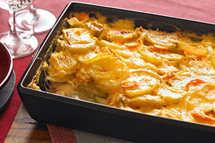 Cheesy Scalloped Potatoes & Carrots