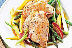 Chicken and Asparagus Skillet Supper Image 1