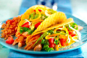 Chicken and Bean Tacos Image 1