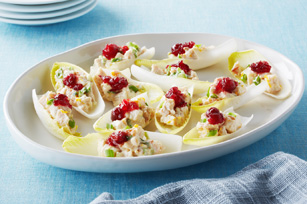 Cranberry-Chicken Boats with Endive