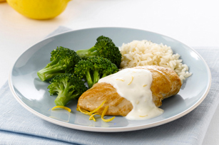 Chicken with Creamy Lemon Sauce & Rice