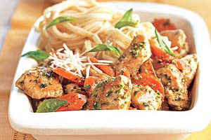 Chicken with Parmesan Noodles Image 1
