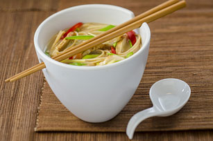 Chicken & Snow Pea Noodle Bowl