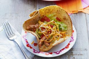Tacos « tinga » au poulet en coupes de tortilla