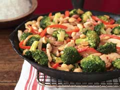 Chicken, Broccoli & Pinto Bean Skillet