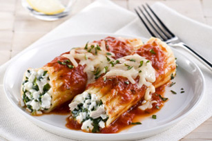 Chicken, Cheese and Spinach Manicotti Image 1