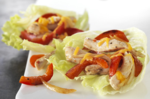 Chicken Fajita Lettuce Wraps for Two