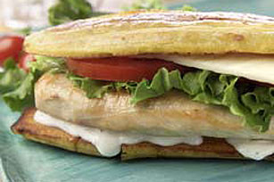Chicken & Swiss Plantain Sandwich