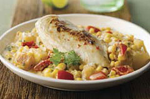 Chicken with Creamy Corn and Potatoes