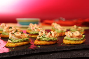 Chipotle Shrimp & Avocado Tostones