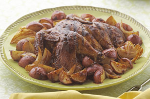Chipotle BBQ Chicken with Potatoes and Onions