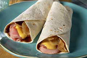 Chipper BBQ Ham Roll-Ups