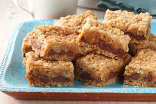 Chocolate, Caramel & Oatmeal Bars