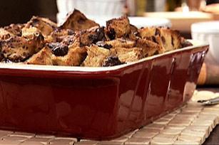 Chocolate-Cinnamon Raisin Bread Pudding