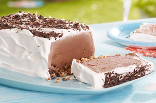Chocolate Cookie Ice Cream Slice