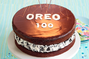 Chocolate-Covered OREO Cookie Celebration Cake