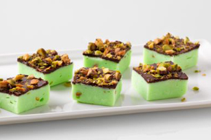 Chocolate-Pistachio Fudge Bites