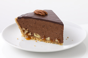 Chocolate-Glazed Turtle Pie