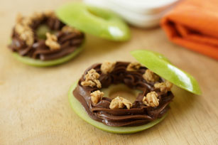 Chocolate Peanut Butter-Apple Rings