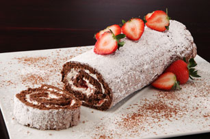 Chocolate-Strawberry Cake Roll