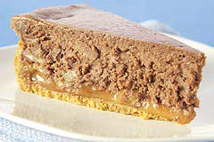 Chocolate Caramel Pecan Cheesecake Image 1
