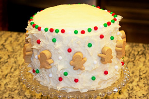 Christmas Card Picture Perfect Cake Image 1