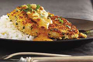 Cilantro-Crusted Pork Chops with Chipotle-Peanut Sauce Image 1