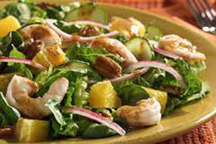 Citrus Shrimp and Spinach Salad