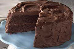 Classic Mahogany Sour Cream Cake