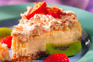 Coconut-Macaroon Cheesecake Image 1