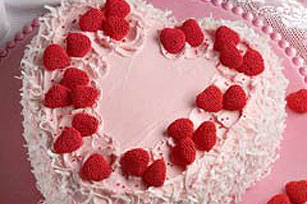 Coconut Heart Dream Cake