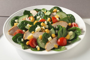 Colby Jack, Chicken & Spinach Salad