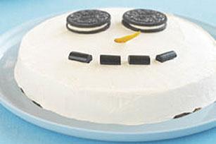 Muñeco de nieve de galletas y crema