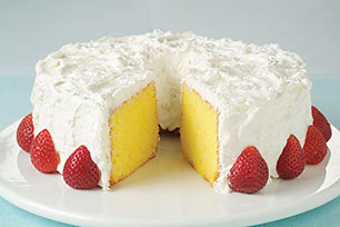 Cool Lemon-Coconut Sour Cream Cake