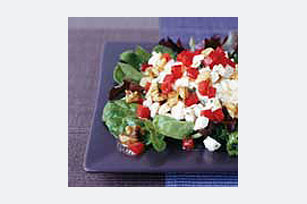 Cottage Cheese Salad with Feta Cheese and Nuts