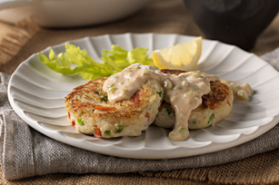 Crab Cakes with Savory Remoulade Recipe - Kraft Recipes