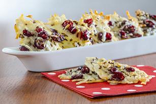 Croustilles au parmesan, aux canneberges et aux graines de lin Image 1