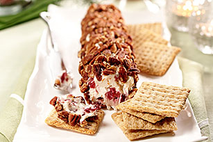 Cranberry and Pecan Cheese Log
