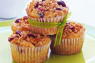 Molletes (muffins) de arándanos agrios