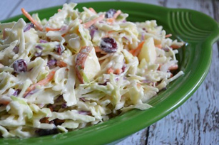 Creamy Apple-Cranberry Coleslaw