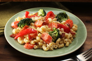Creamy Bacon Vegetable Pasta Skillet Image 1
