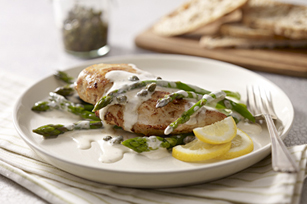 Easy Lemon Chicken Piccata with Asparagus