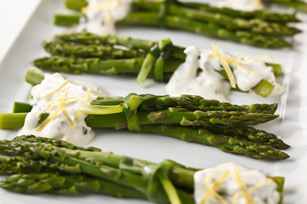 Creamy Citrus-Chive Asparagus