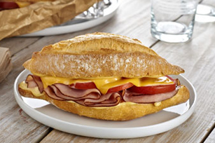 Creamy Dijon Hot Ham Sandwiches Image 1