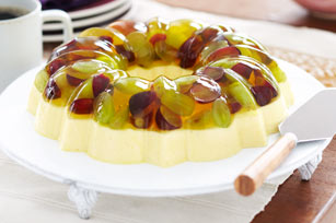 Creamy Lemon Dessert with Fresh Grapes