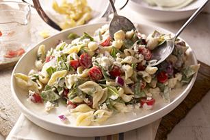 Creamy Mediterranean Pasta Salad Image 1